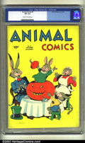 Golden Age (1938-1955):Funny Animal, Animal Comics #5 (Dell, 1943) CGC VF+ 8.5 Cream to off-white pages.Overstreet 2002 VF 8.0 value = $228....