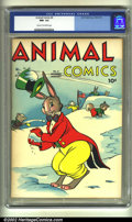 Golden Age (1938-1955):Funny Animal, Animal Comics #6 (Dell, 1944) CGC NM- 9.2 Cream to off-white pages.Overstreet 2002 NM 9.4 value = $230....