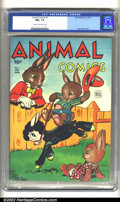Golden Age (1938-1955):Funny Animal, Animal Comics #7 (Dell, 1944) CGC NM+ 9.6 Cream to off-white pages.Overstreet 2002 NM 9.4 value = $230....