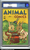 Golden Age (1938-1955):Funny Animal, Animal Comics #8 (Dell, 1944). CGC NM- 9.2 Cream to off-whitepages. Walt Kelly cover. Overstreet 2002 NM 9.4 value = $ 285....