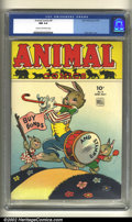 Golden Age (1938-1955):Funny Animal, Animal Comics #9 (Dell, 1944) CGC NM 9.4 Cream to off-white pages. Overstreet 2002 NM 9.4 value = $285....