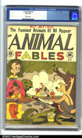 Golden Age (1938-1955):Funny Animal, Animal Fables #1 (EC, 1946). CGC VF- 7.5 Off-white pages.Overstreet 2002 VF 8.0 value = $257....