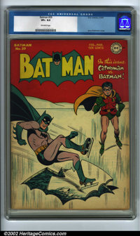 Batman #39 (DC, 1947). CGC VF+ 8.5 Off-white pages. Jerry Robinson cover. Overstreet 2002 VF 8.0 value = $694