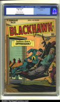 Golden Age (1938-1955):War, Blackhawk #23 Rockford pedigree (DC, 1949) CGC VG+ 4.5 Cream tooff-white pages. Reed Crandall cover and art. Overstreet 200...