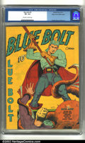 Golden Age (1938-1955):Superhero, Blue Bolt #5 Mile High pedigree (Novelty Press, 1940) CGC VF+ 8.5 Off-white to white pages. Everett, Simon and Kirby artwork...