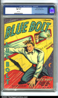 Golden Age (1938-1955):Superhero, Blue Bolt #6 Mile High pedigree (Novelty Press, 1940) CGC NM- 9.2 White pages. Gustavson, Simon and Kirby artwork. Overstree...