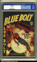 Golden Age (1938-1955):Superhero, Blue Bolt #8 Rockford pedigree (Novelty Press, 1941) CGC VG+ 4.5 Cream to off-white pages. Gustavson, Simon and Kirby artwor...