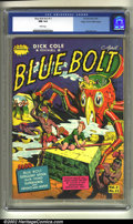 Golden Age (1938-1955):Science Fiction, Blue Bolt v2 #11 Mile High pedigree (Star, 1942) CGC NM 9.4 Whitepages. Bob Davis art. Overstreet 2002 NM 9.4 value = $175....