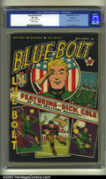 Golden Age (1938-1955):Miscellaneous, Blue Bolt v2 #6 Rockford pedigree (Novelty Press, 1941) CGC VF 8.0 Off-white pages. The original Rockford certificate is inc...