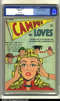 Campus Loves #2 Mile High pedigree (Quality, 1950) CGC NM 9.4 Off-white pages. Overstreet 2002 NM 9.4 value = $225