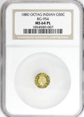 California Fractional Gold: , 1880 50C Indian Octagonal 50 Cents, BG-954, Low R.4, MS64 ProoflikeNGC. NGC Census: (1/6). (#710812)...
