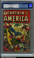 Golden Age (1938-1955):Superhero, Captain America Comics #53 Big Apple pedigree (Timely, 1946) CGC NM- 9.2 Off-white to white pages. Alex Schomburg cover. Ove...