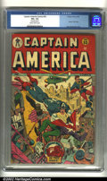 Golden Age (1938-1955):Superhero, Captain America Comics #53 (Timely, 1946) CGC VG+ 4.5 Slightly brittle pages. Incredible Alex Schomburg cover. Overstreet 20...