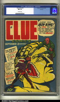 Clue Comics #5 Rockford pedigree (Hillman Fall, 1943) CGC NM 9.4 Off-white pages. Comes with the original Rockford certi...