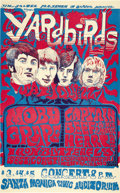 Music Memorabilia:Posters, Yardbirds Santa Monica Civic Center Concert Poster (1968). Talkabout your dream line-ups -- this Yardbirds-headlined show, ...(Total: 1 Item)