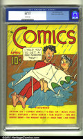 Golden Age (1938-1955):Humor, Comics, The #2 Mile High pedigree (Dell, 1937) CGC NM- 9.2 Off-white pages. G-Man Jim. Magic Pages. Cowboy Comics. Arizona K...