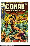 Bronze Age (1970-1979):Miscellaneous, Conan The Barbarian Lot (Marvel, 1970). Nice group of 1-3. #1 VF-,#2 VF+ and #3 VF/NM. Overstreet 2002 value for group = $3...(Total: 3 Comic Books Item)