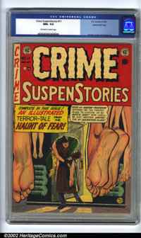 Crime SuspenStories #11 Gaines File pedigree 3/12 (EC, 1952). CGC NM+ 9.6 Off-white to white pages. Overstreet 2002 NM 9...