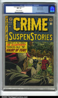 Golden Age (1938-1955):Crime, Crime SuspenStories #12 Gaines File pedigree 3/12 (EC, 1952). CGC NM+ 9.6 Off-white to white pages. Old Witch appearance. Ov...