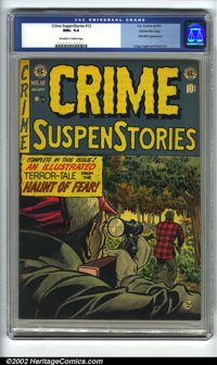 Crime SuspenStories #12 Gaines File pedigree 3/12 (EC, 1952). CGC NM+ 9.6 Off-white to white pages. Old Witch appearance...