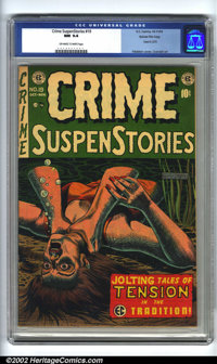 Crime SuspenStories #19 Gaines File pedigree 3/11 (EC, 1953). CGC NM 9.4 Off-white to white pages. Overstreet 2002 NM 9...