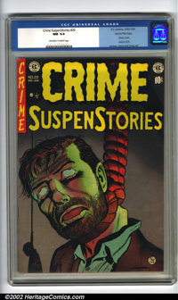 Crime SuspenStories #20 Gaines File pedigree 3/12 (EC, 1953). CGC NM 9.4 Off-white to white pages. Classic cover, used i...