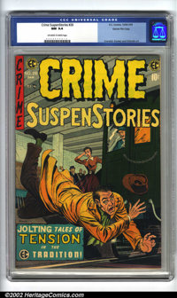 Crime SuspenStories #26 Gaines File pedigree 3/12 (EC, 1955). CGC NM 9.4 Off-white to white pages. Overstreet 2002 NM 9...