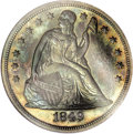 Proof Seated Dollars, 1849 $1 PR67 NGC....