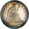 Proof Seated Quarters, 1855 25C PR65 Cameo NGC....