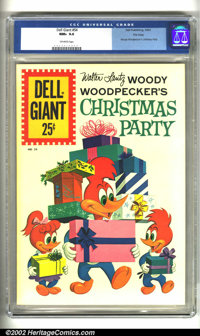Dell Giant #54 File copy (Dell, 1961) CGC NM+ 9.6 Off-white pages. Woody Woodpecker's Christmas Party. Overstreet 2002 N...