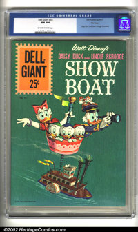 Dell Giant #55 File copy (Dell, 1961) CGC NM 9.4 Off-white to white pages. Daisy Duck and Uncle Scrooge Showboat. Overst...