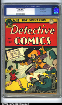 Detective Comics #89 Double cover (DC, 1944) CGC VF+ 8.5 Off-white to white pages. Outer cover grade: 7.0. Overstreet 20...