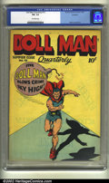 Golden Age (1938-1955):Superhero, Doll Man Quarterly #13 Rockford pedigree (Quality, 1947) CGC FN- 5.5 Off-white pages. Reed Crandall art. Rockford certificat...