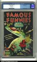 Golden Age (1938-1955):Science Fiction, Famous Funnies #212 Double cover (Eastern Color, 1954). CGC VF-Off-white pages. Double cover; 1st cover 6.5, 2nd cover 7.5....