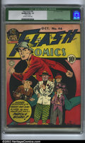 Golden Age (1938-1955):Science Fiction, Flash Comics #46 (DC, 1943). CGC Qualified FN+ 6.5 Off-white towhite pages. Staples cleaned. E.E. Hibbard cover, Sheldon Mo...