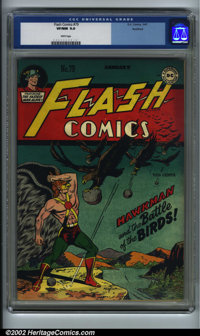 Flash Comics #79 Rockford pedigree (DC, 1947) CGC VF/NM 9.0 White pages. Rockford certificate included. Overstreet 2002...
