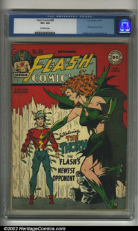 Flash Comics #89 (DC, 1947). CGC VF+ 8.5 Off-white pages. First appearance of Thorn. Kubert cover. Overstreet 2002 VF 8...
