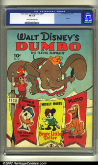 Four Color Comics #17 Walt Disney's Dumbo (Dell, 1941). CGC FN 6.0 Cream to off-white pages. Overstreet 2002 FN 6.0 valu...