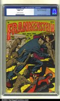 Golden Age (1938-1955):Horror, Frankenstein #27 Mile High pedigree (Prize, 1953) CGC FN/VF 7.0Off-white to white pages. Dick Briefer cover and art. Overst...