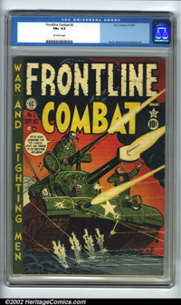 Frontline Combat #2 (EC, 1951). CGC FN+ 6.5 Off-white pages. Overstreet 2002 FN 6.0 value = $105