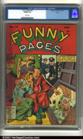Golden Age (1938-1955):Miscellaneous, Funny Pages #36 Larson pedigree (Centaur, 1940) CGC VG/FN 5.0 White pages. Overstreet 2002 GD 2.0 value = $105; FN 6.0 value...