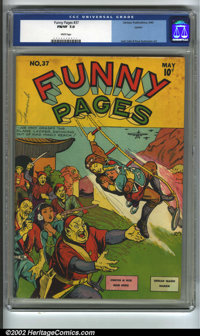 Funny Pages #37 Larson pedigree (Centaur, 1940) CGC FN/VF 7.0 White pages. Jack Cole and Paul Gustavson artwork. Overstr...
