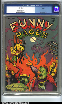 Funny Pages #38 Larson pedigree (Centaur, 1940) CGC VF 8.0 Off-white to white pages. Overstreet 2002 VF 8.0 value = $656...