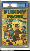 Golden Age (1938-1955):Miscellaneous, Funny Pages v2 #12 Larson pedigree (Centaur, 1938) CGC FN+ 6.5 Off-white pages. Overstreet 2002 FN 6.0 value = $342....