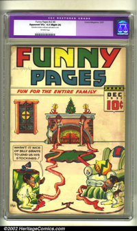 Funny Pages v2 #4 (Comics Magazine, 1937) CGC Apparent VG+ 4.5 Slight (A) Off-white pages. Overstreet 2002 GD 2.0 value...