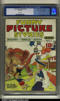 Platinum Age (1897-1937):Miscellaneous, Funny Picture Stories v2 #1 Mile High pedigree (Comics Magazine,1937) CGC VF- 7.5 White pages. Indicia says v1 #10. Overstr...