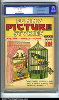 Golden Age (1938-1955):Humor, Funny Picture Stories v2 #6 (Centaur, 1938). CGC FN- 5.5 Off-white pages. First Centaur issue, Fred Guardineer cover. Overst...