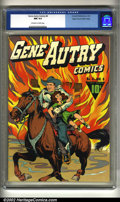 Golden Age (1938-1955):Western, Gene Autry Comics #4 Mile High pedigree (Fawcett, 1943) CGC NM 9.4Off-white to white pages. Overstreet 2002 NM 9.4 value = ...