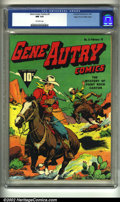 Golden Age (1938-1955):Western, Gene Autry Comics #5 Mile High pedigree (Fawcett, 1943) CGC NM 9.4 Off-white pages. Overstreet 2002 NM 9.4 value = $1,050....
