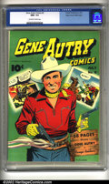 Golden Age (1938-1955):Western, Gene Autry Comics #9 Mile High Pedigree (Fawcett, 1943) CGC NM+ 9.6Off-white to white pages. Overstreet 2002 NM 9.4 value =...